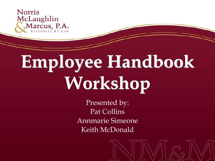 employee handbook workshop