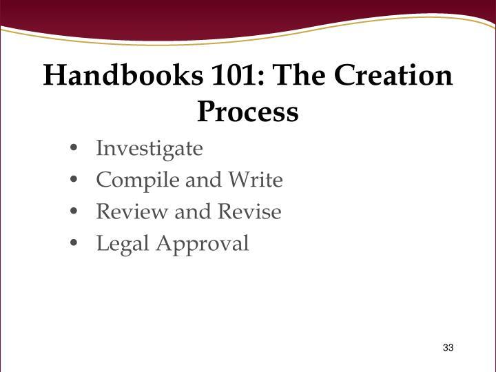 Handbooks 101: The Creation Process