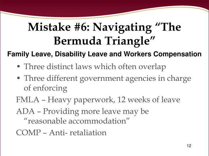 "Mistake #6: Navigating ""The Bermuda Triangle"""