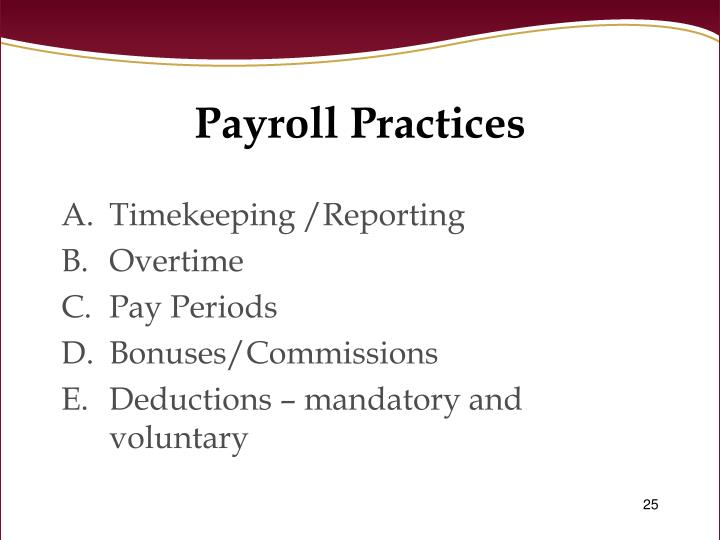 Payroll Practices
