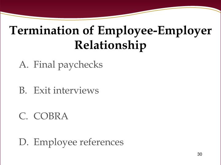 employer employee relationship objectives and goals