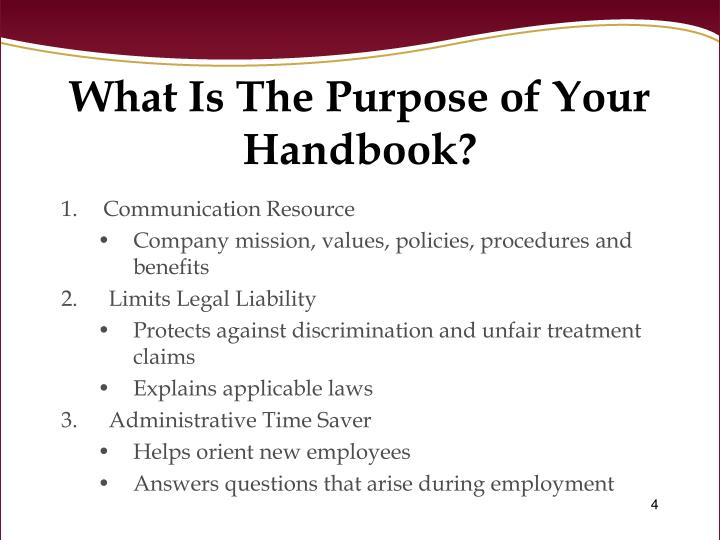 What Is The Purpose of Your Handbook?