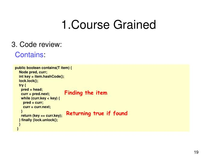 1.Course Grained