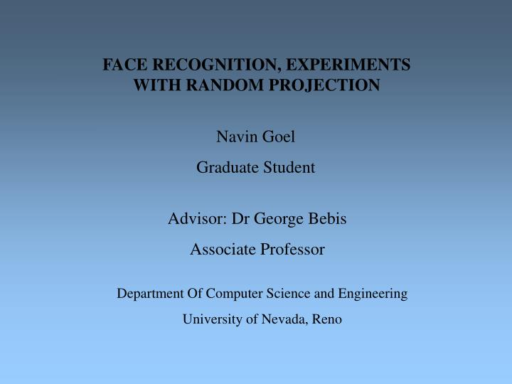 face recognition thesis 2012