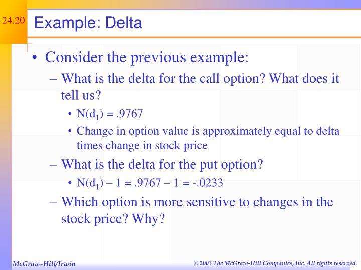 Example: Delta
