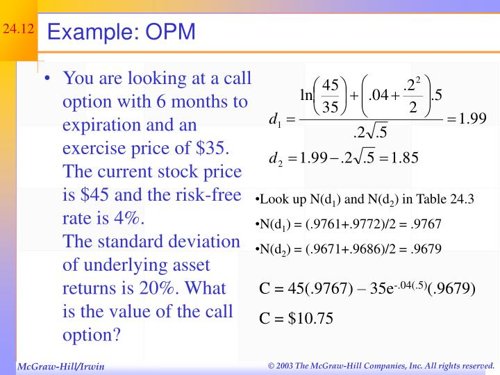 Example: OPM