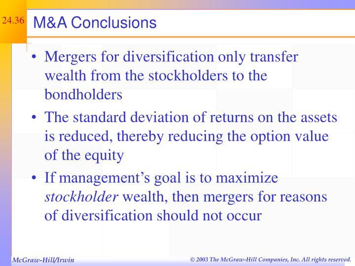 M&A Conclusions
