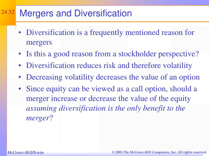 Mergers and Diversification
