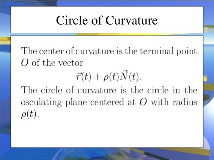 Circle of Curvature