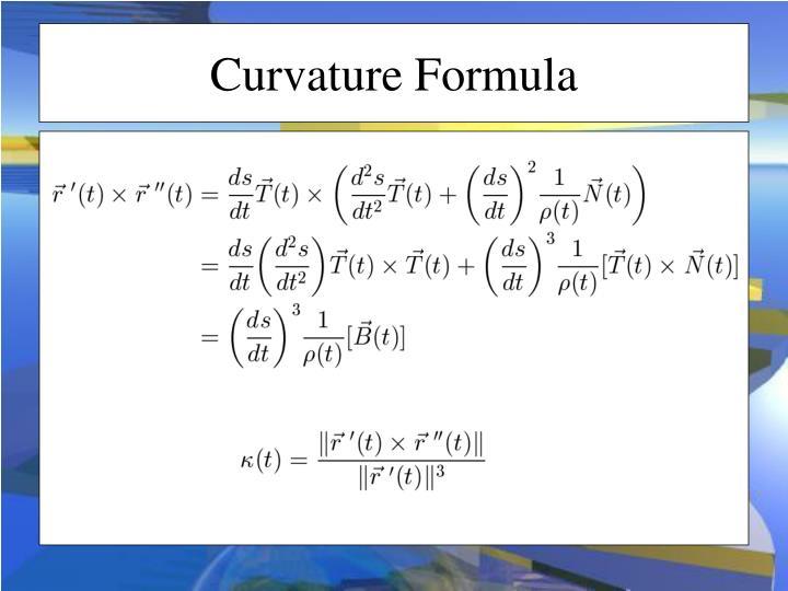 Curvature Formula