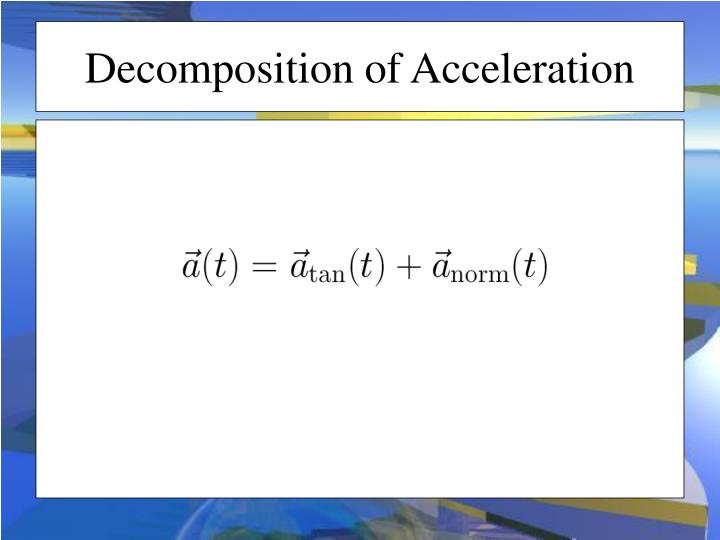 Decomposition of Acceleration