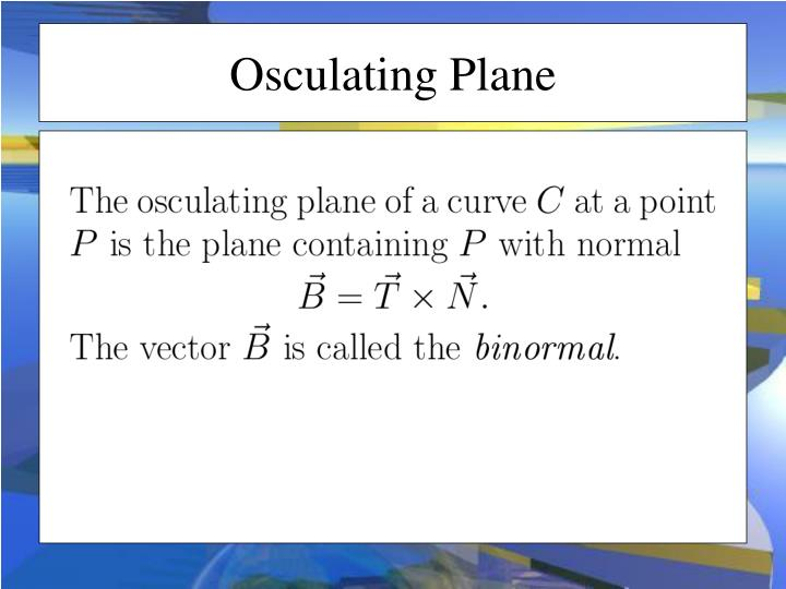 Osculating Plane