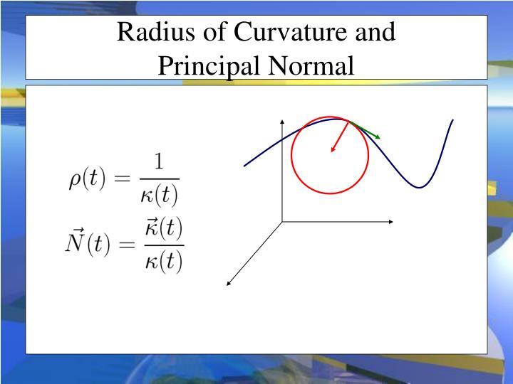 Radius of Curvature and