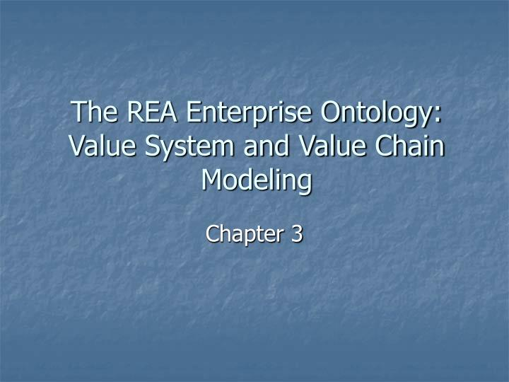 The rea enterprise ontology value system and value chain modeling