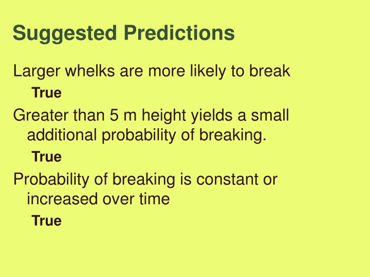Suggested Predictions