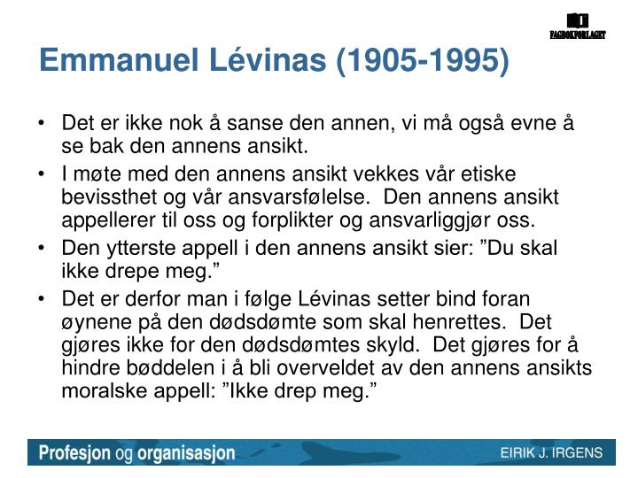 Emmanuel Lévinas (1905-1995)