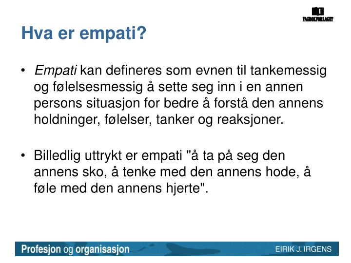 Hva er empati?