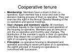 cooperative tenure1