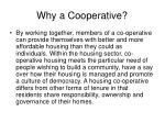 why a cooperative