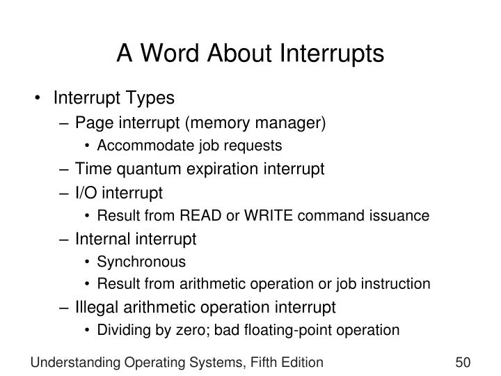 A Word About Interrupts
