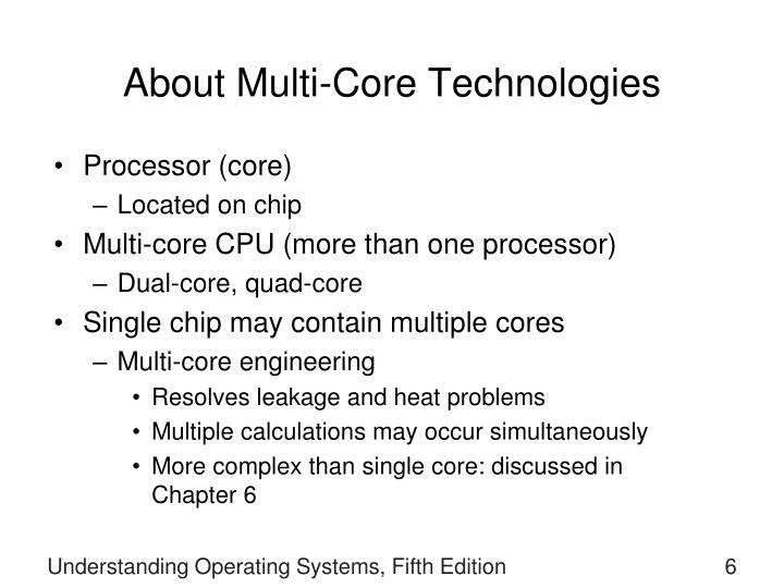About Multi-Core Technologies