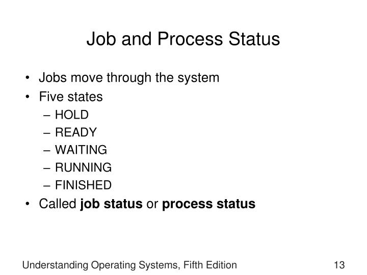 Job and Process Status