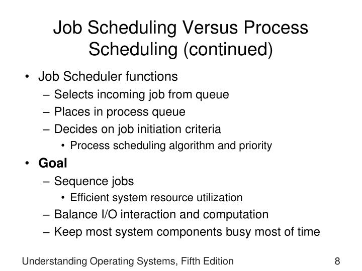 Job Scheduling Versus Process Scheduling