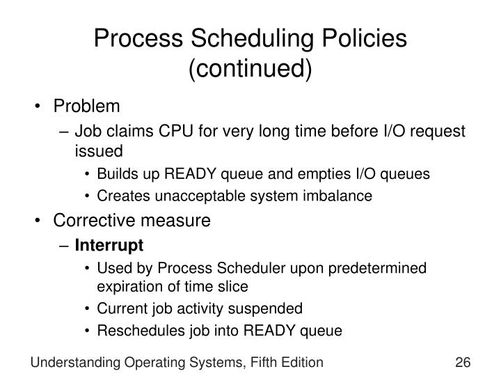 Process Scheduling Policies