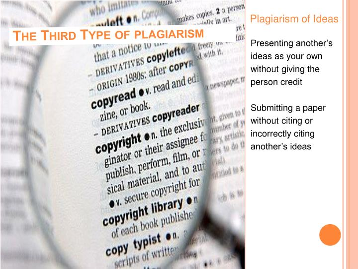 Plagiarism of Ideas