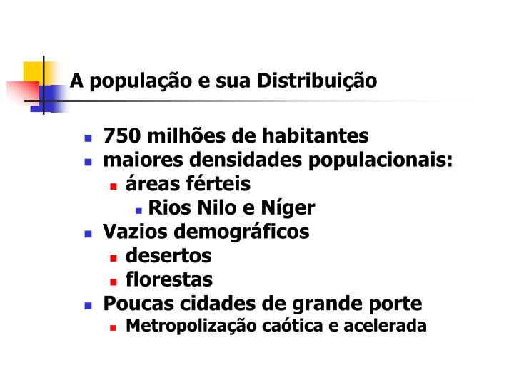 A população e sua Distribuição