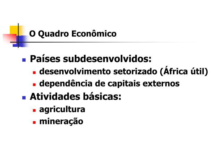 O Quadro Econômico