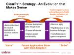 clearpath strategy an evolution that makes sense