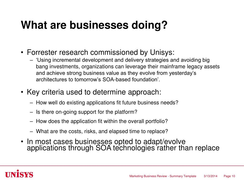 What are businesses doing?