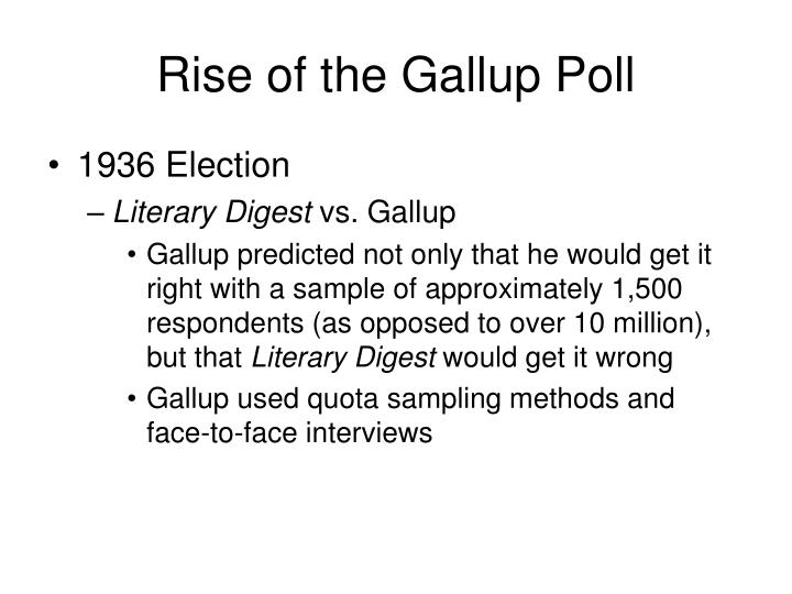 Rise of the Gallup Poll