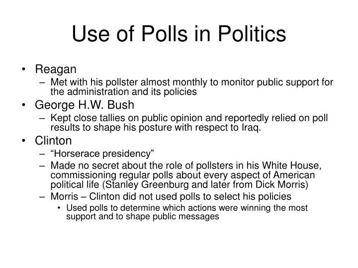 Use of Polls in Politics