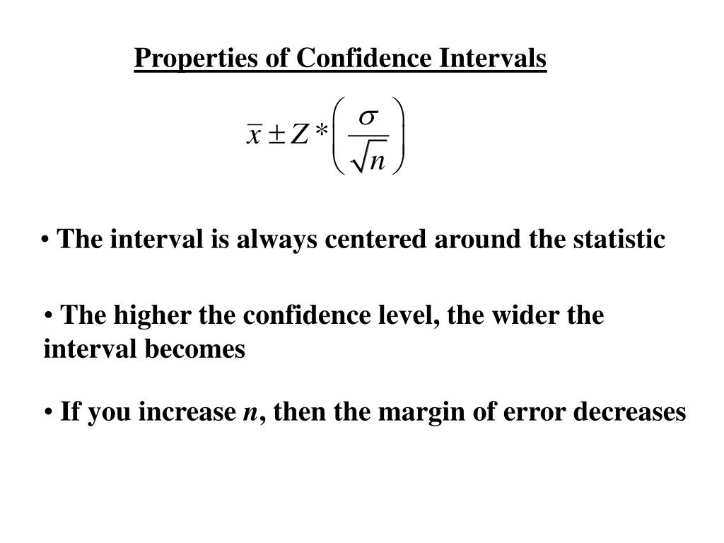 Properties of Confidence Intervals