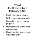 team jon r katzenbach mckinsey co