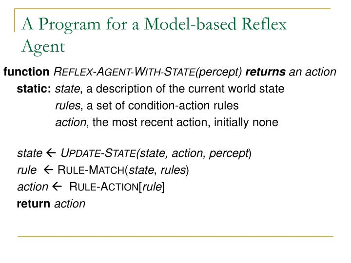 A Program for a Model-based Reflex Agent