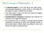 the concept of rationality i