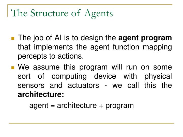 The Structure of Agents