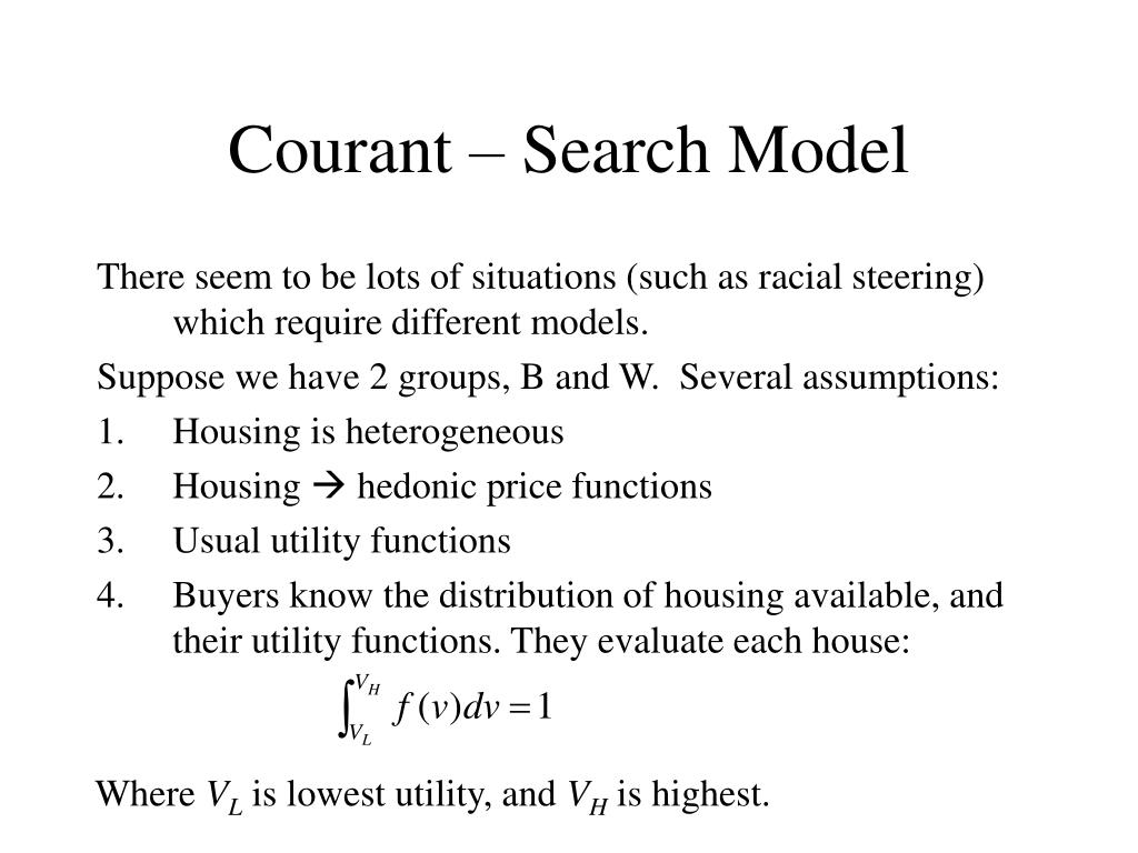 Courant – Search Model