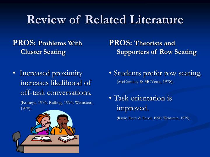 the problem and review of related A literature review of the treatment and education for statement of the problem and education for autistic and related.
