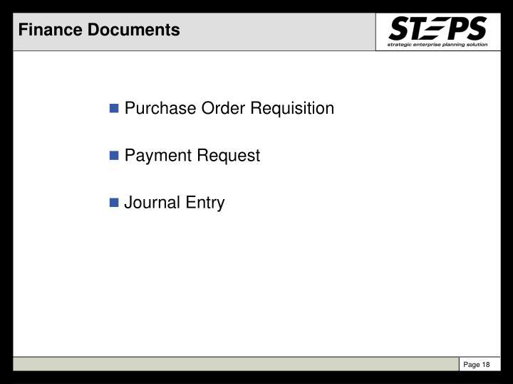 Finance Documents