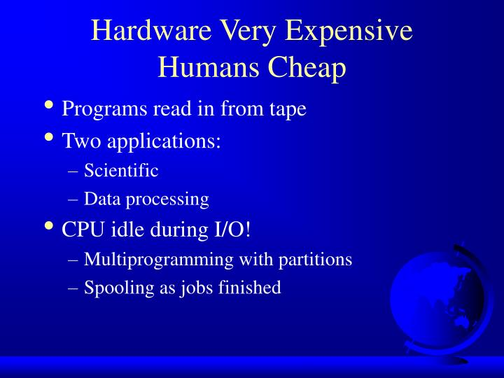 Hardware Very Expensive