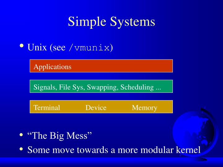 Signals, File Sys, Swapping, Scheduling ...