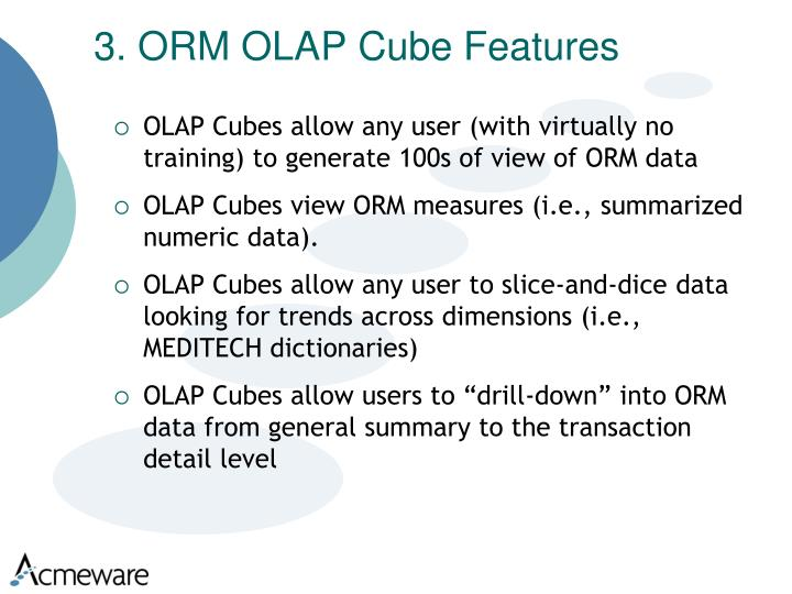 3. ORM OLAP Cube Features