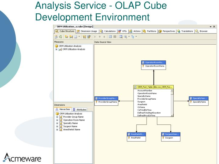 Analysis Service - OLAP Cube Development Environment