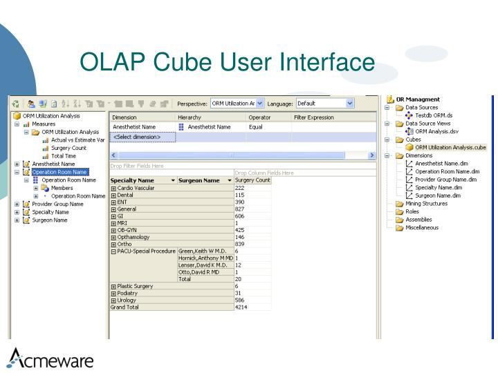 OLAP Cube User Interface