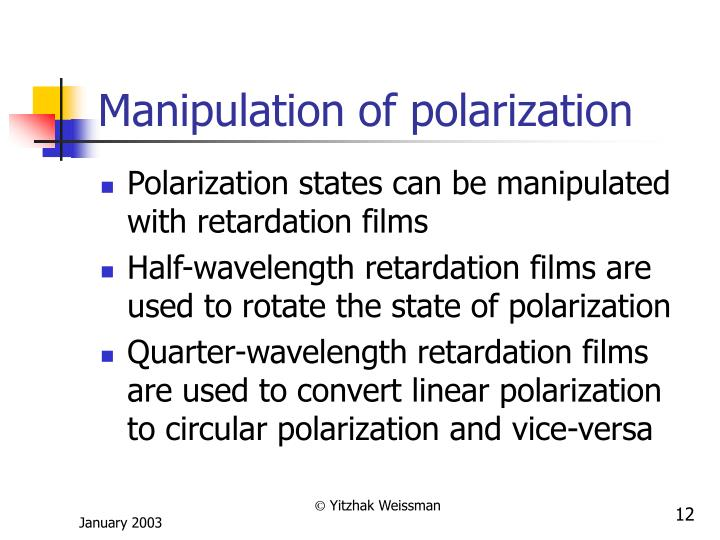 Manipulation of polarization