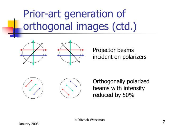 Prior-art generation of orthogonal images (ctd.)